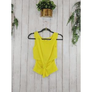 Cotton Candy tank open sides yellow spring, zipper
